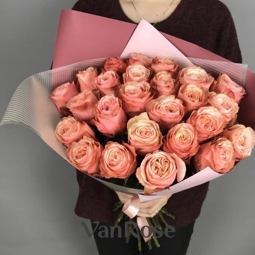 Букет из 25 роз Кахала Эквадор 50см, в упаковке