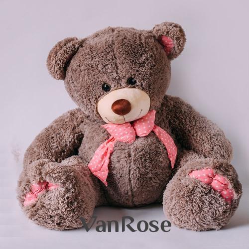 Медвежонок с розовым бантом