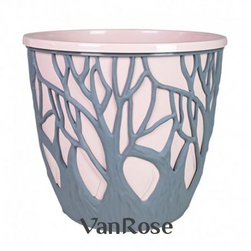 Кашпо форест 3л. розово -серый